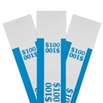 Blue $100 Self Sealing Currency Straps (20 000/Case)