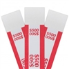 Red $500 Self Sealing Currency Straps (1000/Box)