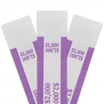 Violet $2000 Self Sealing Currency Straps (1000/Box)