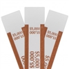 Brown $5000 Self Sealing Currency Straps (20 000/case)