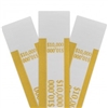 Mustard $10 000 Self Sealing Currency Straps (20 000/case)