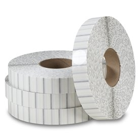 "1.5"" White Non-Perforated Tabs TB-1.5WH (2500/roll) for Staplex TBS-1.5 Tabber"