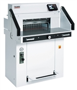 "MBM Triumph 5560 LT 21-5/8"" Automatic Programmable Hydraulic Paper Cutter With Air Tables VRCut Ready"