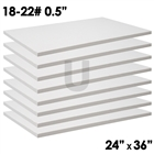8 low density ceramic fiber boards 24 inches wide and 36 inches long