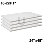 4 ceramic fiber boards dimensions 1x24x48