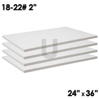 2 ceramic fiber boards dimensions 2x24x36