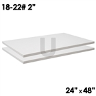 2 ceramic fiber boards dimensions 2x24x48