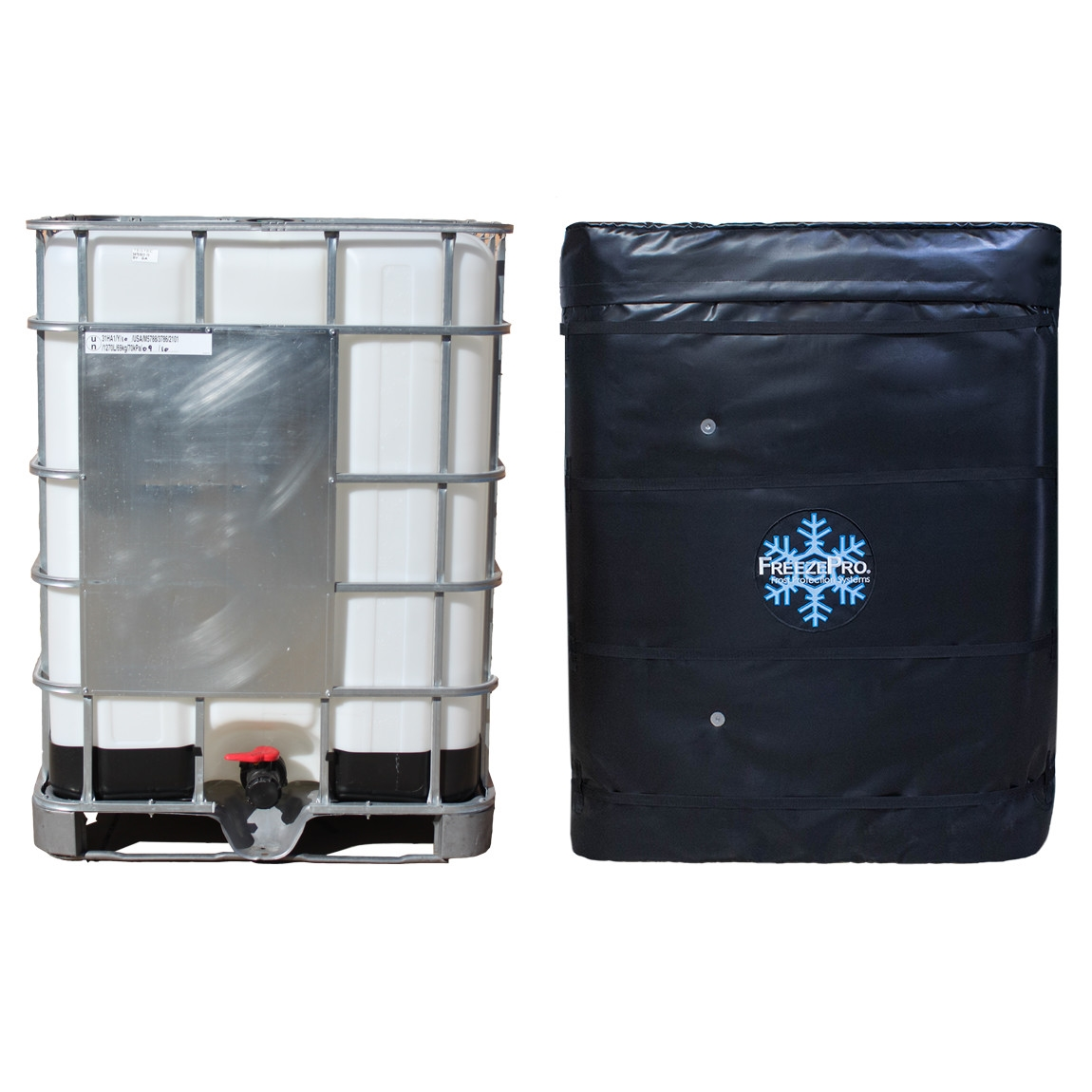 Frost Freeze Protection For Totes And Tanks And Temperature