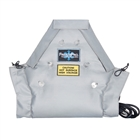 Removable frost protection isolation blanket for valves, fittings and other heat processing applications.