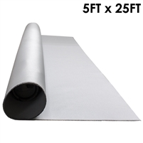 Grey Silicone Coated Fiberglass - 5ft x 25ft