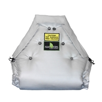 Removable valve protection isolation blanket for valves, fittings and other heat processing applications.