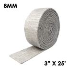 8 millimeter thick hydrophobic insulation mat tape 3 inches wide and 25 fit long