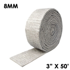 8 millimeter thick hydrophobic insulation mat tape 3 inches wide and 50 fit long