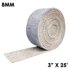 8 millimeter thick hydrophobic insulation mat tape with silicone coat 3 inches wide and 25 fit long