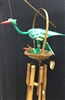 Green Bird W/ Babies Bamboo Chime 30cm