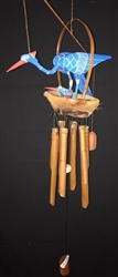 Blue Bird W/ Babies Bamboo Chime 30cm