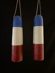 Wood Bouy Red / White / Blue