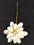White Chula lily cut  Ornament