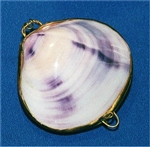 Purple Clam Polished Coin Purse
