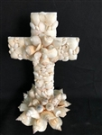 White Shell Cross W/ Chula Base