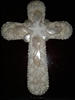 White Shell Crucifix With Center Star
