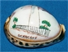 Ocracoke Etched Lighthouse on Tiger Cowry