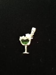 Silver coctail Charm