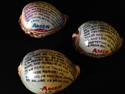 Lords Prayer Painted Cowry