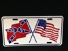 US and Confederate Flag License Plate