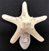 White Knobby Starfish Night Light