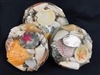 "Shell Pack Assortment in Basket 8"" $2.00  10"" $3.50"
