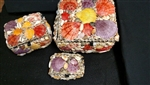 Shell Jewelry Box Set of Three