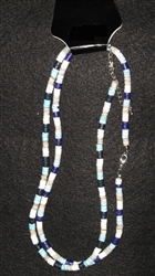 Blue & Gray Heshi Necklace