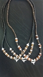 Assorted Heishi Necklace W/ Genuine Shark Tooth