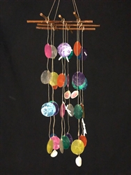 Assorted Colored Cross Top Capiz Chime
