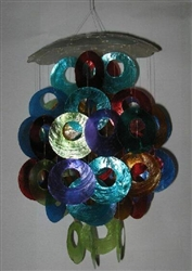 Capiz Chime, Multi Colored