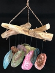 "Driftwood Colored Placuna 8"" triangle"