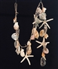 46 inch Rope Garland W/ Shells & Starfish