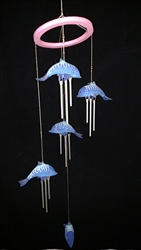 Wood Fish Mobile Chime