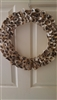 Genuine Oyster Shell Wreath 14""