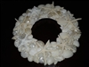 White Shell Wreath 14 Inch