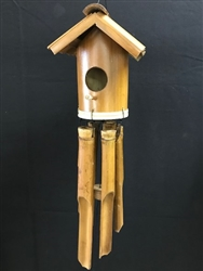 Birdhouse Bamboo Chime