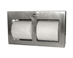 Locking Double Roll Toilet Tissue Dispenser- Horizontal, Surface Mount