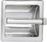 Recessed Toilet Paper Holder- chrome plastic roller, satin
