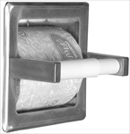 Recessed Toilet Paper Holder - with storage, bright polished