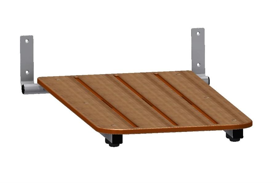 Tub seat - Folding with Woodgrain Top