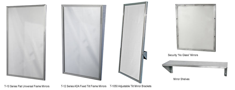 Commercial Restroom Mirrors - Handicap bathroom mirror