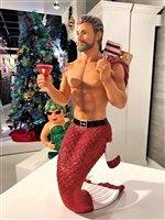 December Diamonds Large Tabletop Santa Daddy II Merman Display Figurine.  Santa Daddy II  Santa Daddy II Tabletop Display Figurine SOLD OUT!