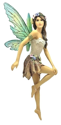 December Diamonds Blossom Female Fairy Christmas Ornament