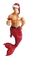 December Diamonds Jingle Santa Hat Merman Christmas